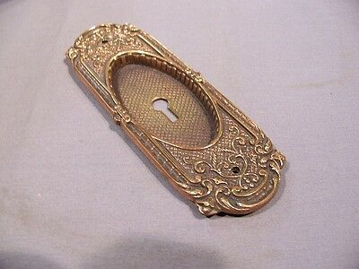 Antique Cast Brass, Pocket Door Plate