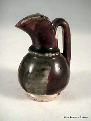 Beautiful Grey/Brown Multi-colored Clay Miniature Dollhouse Pitcher/Vase