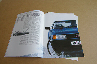 Audi 80 B3 Brochure - 1990 Retro Car Leaflet - With Additional Tech Spec Sheet