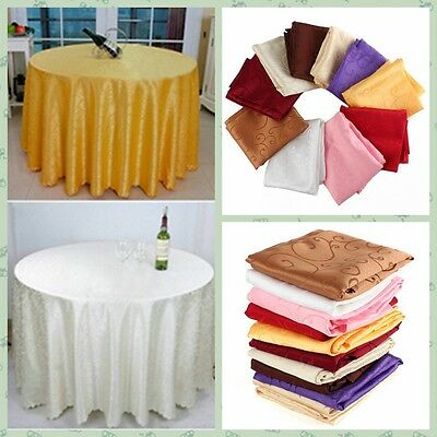 Round Table Cover Tablecloth Pattern Wedding Banquet Party Polyester Linen New