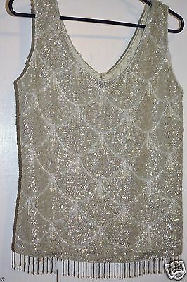 Vintage Hand Beaded Top size Large