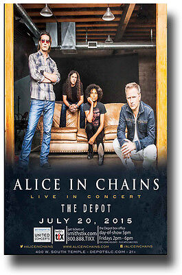 Alice in Chains Poster - Concert Promo Flyer  Devil Put Dinosaurs Here Tour SLC