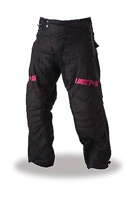 LUCKY 15 PAINTBALL PANTS - BCA - BLACK and PINK: SIZE MEDIUM