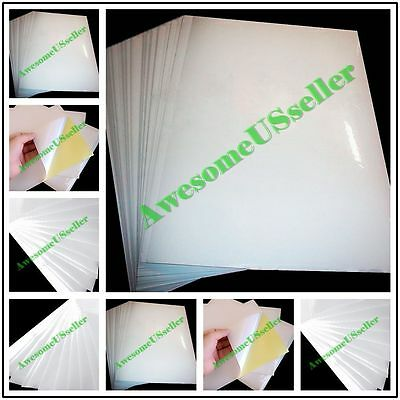 A4 White Glossy Self-Adhesive Sticker Sticky NEW Tags Label Printing Paper Laser