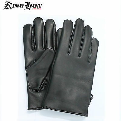 Top Quality Soft Comfort Prime Leather Mens Black Chauffeur Driving Gloves