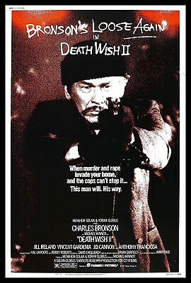 Death Wish 2 FRIDGE MAGNET 6x8 Charles Bronson Magnetic Movies Poster