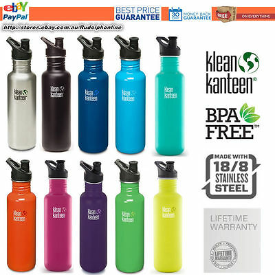 New original Klean Kanteen Classic 27oz 800ml Steel water travel bottle sports c