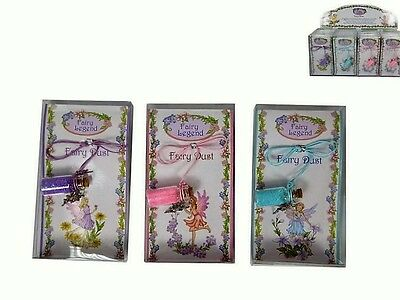 Fairies~Glass Fairy Dust & Necklace~3 Asstd Colours To Choose From~Free Postage