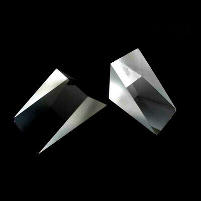 37x52x68mm Triangle Optical Glass Prism with Defective for Decoration Teaching