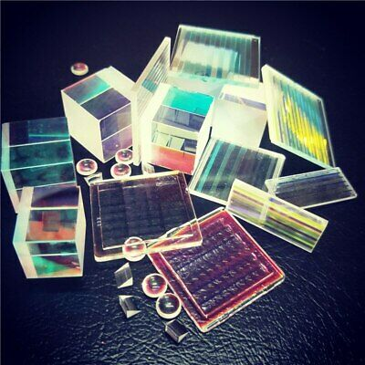 Defective Round Triangle Optical Combiner Glass Prism Teaching Tool Decoration