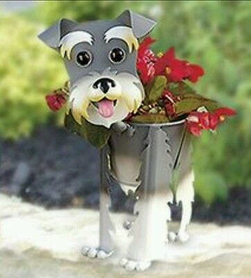 Schnauzer Dog Planter Decorative Fun...NO TAIL..FREE EXPEDITE SHIPPING...NEW...