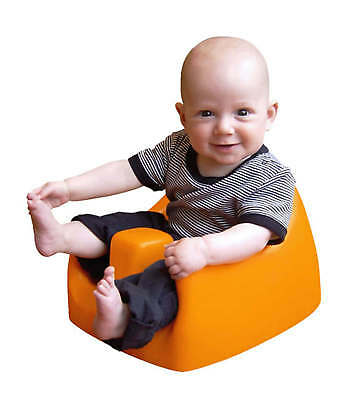 Soft Baby Seat | Karibu Soft Seat for Babies | Baby Chair (Orange)