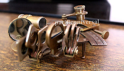 "4"" Solid Brass Sextant Nautical Marine Astrolabe Maritime Gift Ship Instruments."