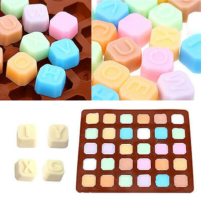 Silicone Letter Alphabet Cake Fondant Mould Chocolate Cookies Ice Candy Mold