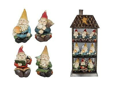 GNOME~GARDEN GNOME~11 cm~4 ASSORTED