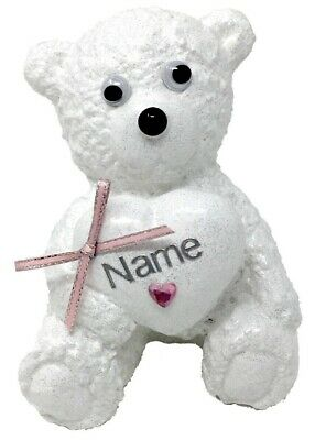 Personalised Teddy Bear Grave Memorial Girls Graveside Graveyard Ornament Plaque