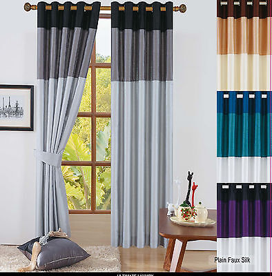 Panel Vienna Ring Top Fully Lined Pair Eyelet Curtains Bedroom Lounge All Sizes
