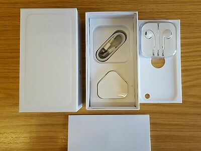 Apple iPhone 6 White Box and Full Accessories Only (no phone) UK inlucde pin
