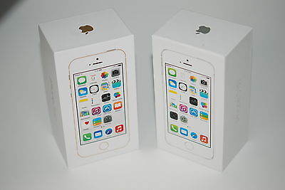 Apple iPhone 5S SILVER Box and Full Accessories Only (no phone) UK