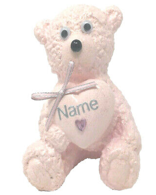 Daughter Baby Pink Glitter Teddy Bear Stone Grave Memorial Xmas Birthday Tribute