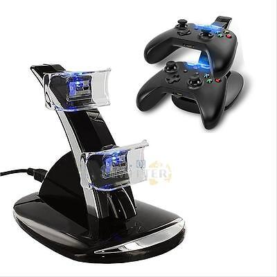 For Xbox One Wireless Controller LED Light Dual Charging Dock Station Charger