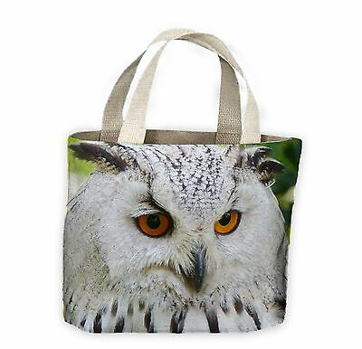 Eagle Owl Face Light Background Tote Shopping Bag For Life - Owls