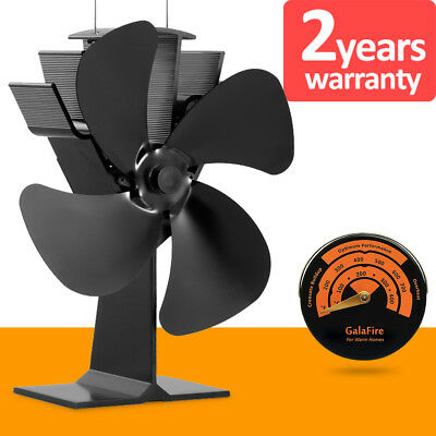 Circulate Airflow 370m3/h Eco Heat Powered Stove Top Fan Fast Start from 50°C