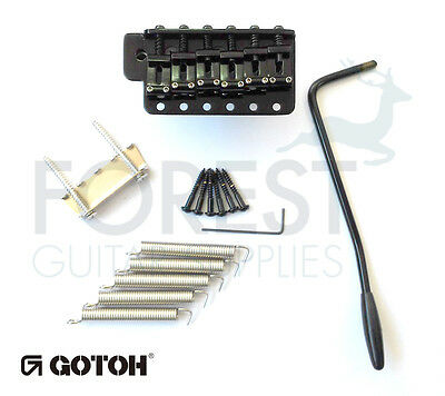 GOTOH vintage Tremolo Bridge Stratocaster GE101TS black, STEEL BLOCK