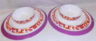 BNIP TUPPERWARE set of 6 Fiesta DINING range CHARGER &  DINING PLATES & BOWLS