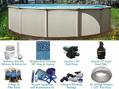 Esprit 24 ft Round Standard Above Ground Pool Complete Package