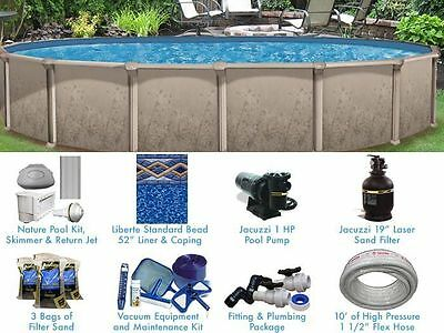Nature 12' x 24' ft Oval Standard Above Ground Swimming Pool Complete Package