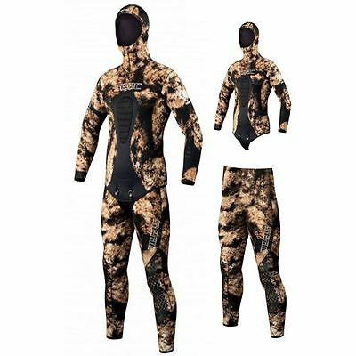 SEAC Kobra Camouflage Diving Wetsuits - Hooded Jacket, Pants - 3.5 / 5.0 / 7.0mm