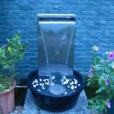 Tidal Self Contained Stainless Steel Water Blade Wall Water Feature