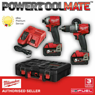 Milwaukee M18FPP2A-502X Fuel Hammer Drill + Impact Driver -2x 5.0Ah Batteries