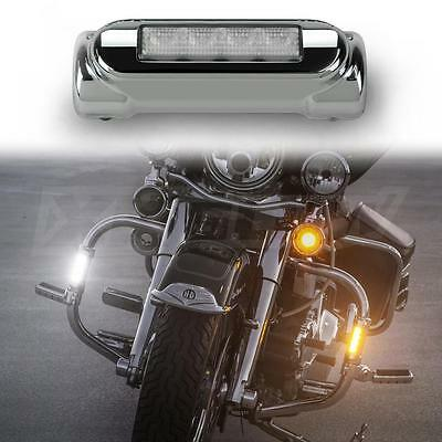 Motorcycle Highway Bar Lights LED White Amber Harley DRL Turnsignal Switchback