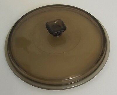 Crockpot or Sauce Pan Glass Replacement Lid Smoke 8 1/2 Inches