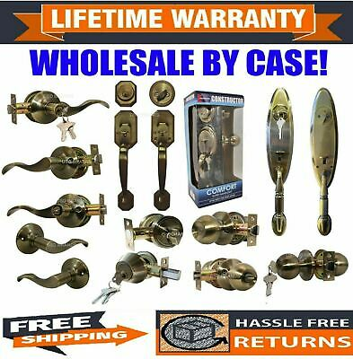 Wholesale Door Lock Sets Handle Knob Entry Passage Privacy Antique Bronze