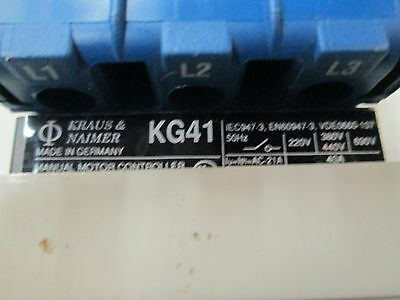 Kraus & Naimer Manual Motor Controller On/Off Switch KG41 220-690V 40A (New)