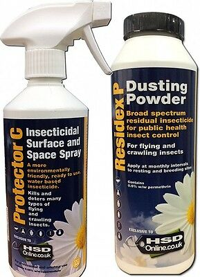 Bedbugs Spray Treatment Powder Killer House Room Kill Bed Bug  Kit Pest Control