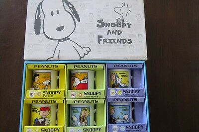 Peanuts Snoopy Cups - Snoopy & Friends Collection - Set of 6 - Mint in Boxes