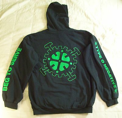Type O Negative 90s Beg To Serve Hoodie Vtg Tour t-shirt peter steele carnivore