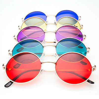 John Lennon Style Vintage Retro Classic Circle Round Men Women Sunglasses color