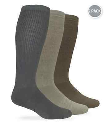 Military Combat Boot Socks 2-pair pack L (10-13) and XL (12-16) Made in USA