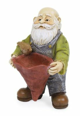 "2.75"" My Fairy Gardens Mini Gnome Figure Pick - ""Feeding Friends"" - Figurine"