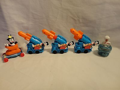 1994 Warner Brothers Animaniacs Kaboom Promo Cannon Toy Car Lot of 3 Plus Extras