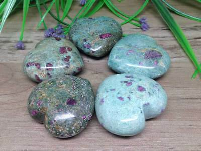 Ruby Zosite Puffy Hearts Perfect for crystal healing crystal Hearts