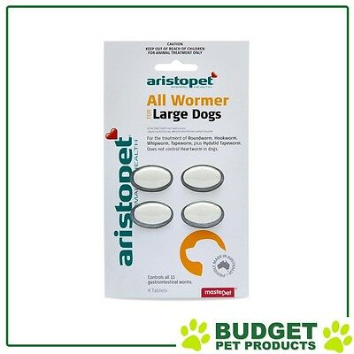 Aristopet AllWormer For Large Dogs 20kg Tablet 4 Pack