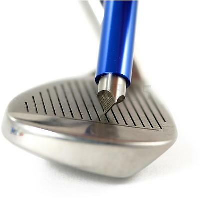 Blue Golf Wedge Iron and Wedge Club Groove Sharpener Cleaner Cleaning Tool