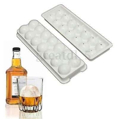Round Silicone Ice Ball Cube Tray Freeze Mould Party Bar Pudding Chocolate Mold