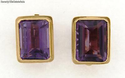 Antique French 18k Yellow Gold Amethyst Earrings 20 Carats